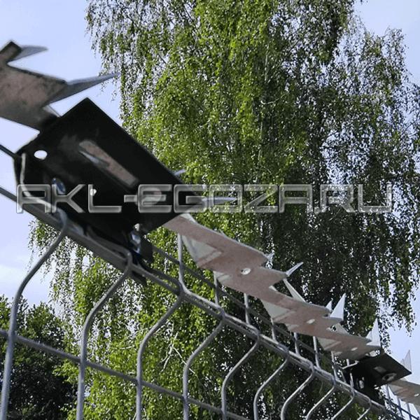 шипы от воров противоперелазные на 3d заборе