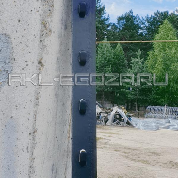 стойка металлическая оградительного забора О3-288